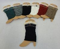 Knitted Boot Cuffs [Antique Lace/1 Button]